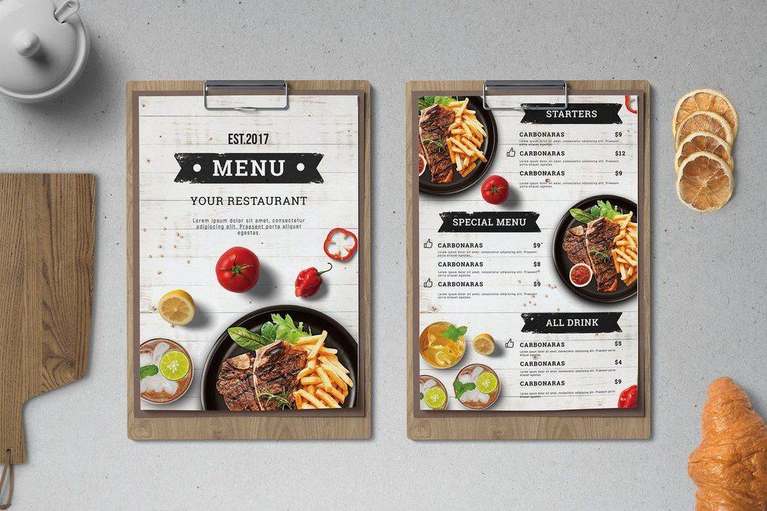 Xưởng in thực đơn - menu giá rẻ