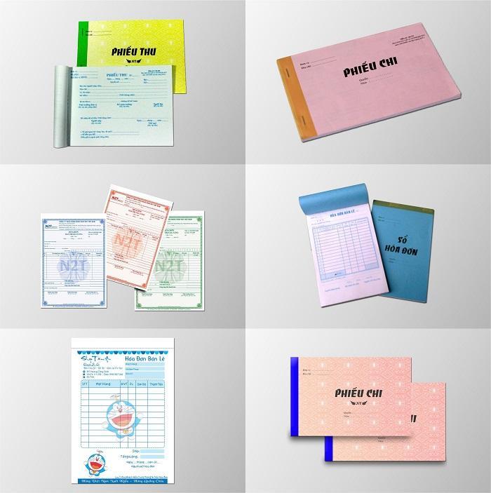 In hóa đơn, thu, chi các loại