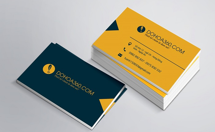 In card visit giấy chất lượng