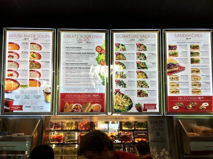 In menu biển giá rẻ tại TpHcm