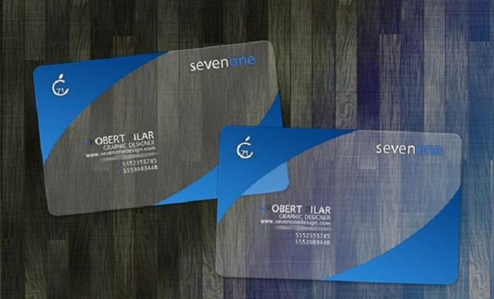 In card visit chất liệu nhựa trong